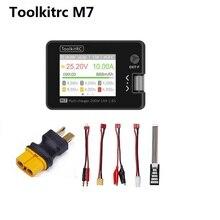 ToolkitRC M7 200W 10A DC מאזן מטען פורק עבור 1 6S Lipo סוללה עם עם מתח סרוו בודק ESC בודק מקלט