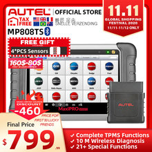 Autel MaxiPRO MP808TS OBDII רכב רכב אבחון כלי OBD2 סורק OBD 2 קוד Reader TPMS פונקציות PK AP200 MK808 MK808TS