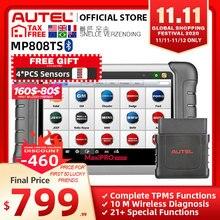 Autel maxipro MP808TS obdii車の自動車診断ツールOBD2スキャナobd 2コードリーダーtpms機能pk AP200 MK808 MK808TS