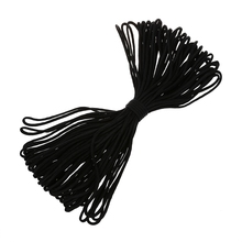 Parachute Cord Lanyard Rope 7 Core Strand Nylon Survival Outdoor Black цена