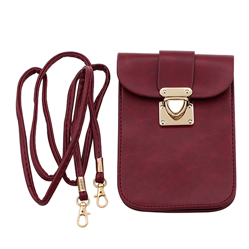 Women's Retro Faux Leather Mini Crossbody Single Shoulder Bag Cellphone Handbag Female Long Purse Pochette кошелек женский