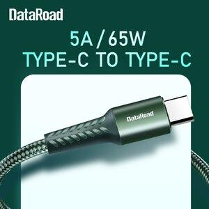 Кабель DataRoad USB Type C для Huawei P40 P40 Pro Plus usbc Data 3,0 Quick Charge 65 Вт 5A быстрое зарядное устройство для SAMSUNG для XIAOMI