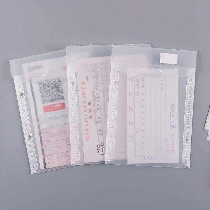 5 шт., прозрачная папка А5, сумка для файлов, 2 отверстия, Пластиковая Сумка для документов, Рассыпчатая бумажная папка для хранения