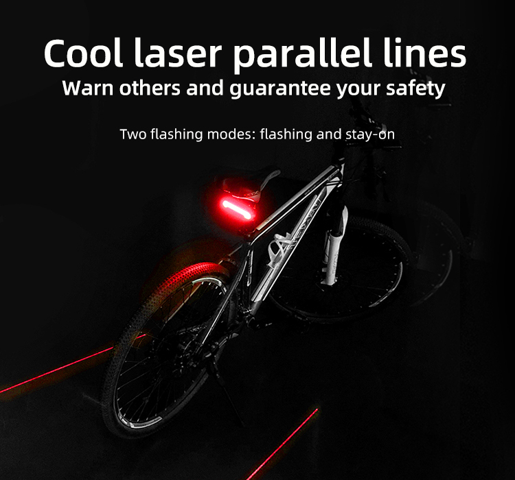 Wireless Bike light Brake Bicycle Rear Light laser taillight Smart USB Rechargeable Cycling Accessories Remote Turn led (2)