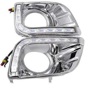 Image 2 - Driving Lights For Toyotas Prado 150 Fj150 Lc150 2010 2013 Land Cruiser Led Daytime Running Lights Drl Fog Lamp Cover