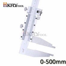 Calibrador Vernier de 0 a 500mm, tobogán de acero con pinza de mordaza larga, calibrador de servicio pesado, herramienta de medición