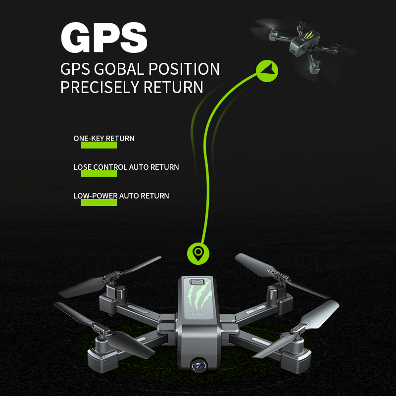 SHAREFUNBAY drone GPS 4K HD 5G WIFI FPV drone ESC camera height keep flight for 20 minutes distance control 3