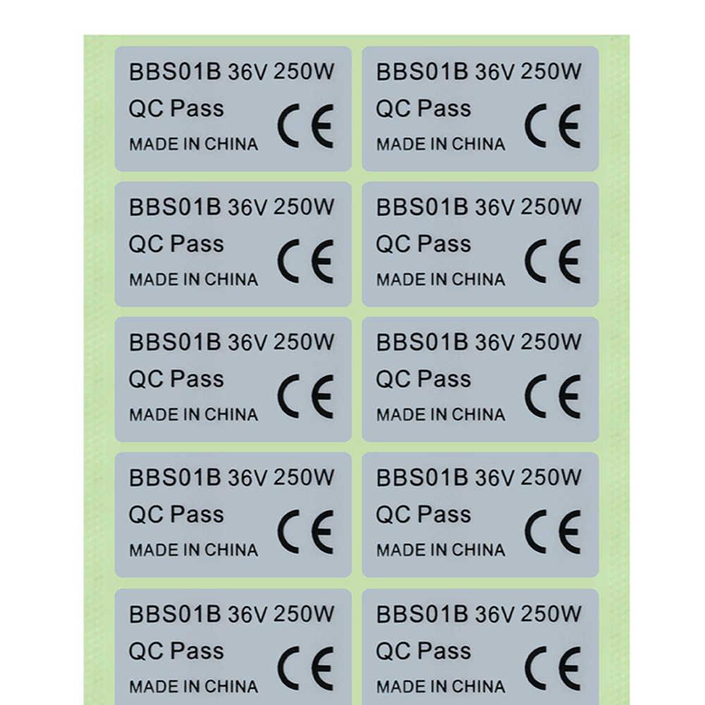 2x motor sticker decal BAFANG 250w 48V BBS02B BBS01 Ebike legal silver large