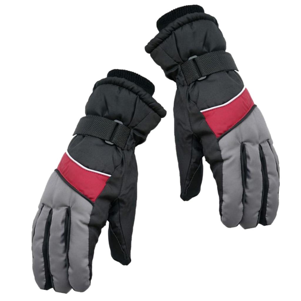 Ski Gloves With Wrist Band Winter Waterproof Snowboard Snow Windproof Warm Men Women Gloves