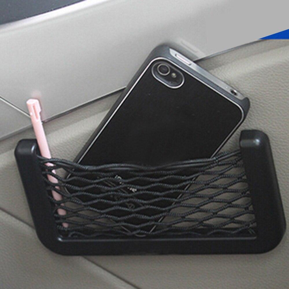 Car Trunk Storage Bag Mesh Net Organizer Accessories For A4 B5 B6 B8 A3 A5 A6 Q5 Q7 BMW E30 E34 E36 E39 E46 E90 E60 F10 F30(China)