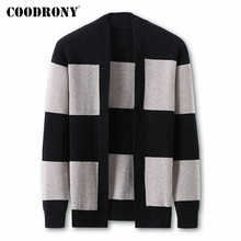 COODRONY Brand Sweater Men Fashion Striped Cardigan Men Clothes Autumn Winter Soft Warm Knitwear Coat Cotton Wool Sweaters C1021