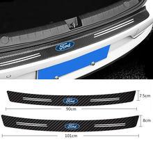 1 шт. защитная пластина для багажника автомобиля, защитные наклейки из углеродного волокна для Ford Focus 2 3 Mondeo Ecosport Kuga Mk4 Fiesta Mustang Mk3