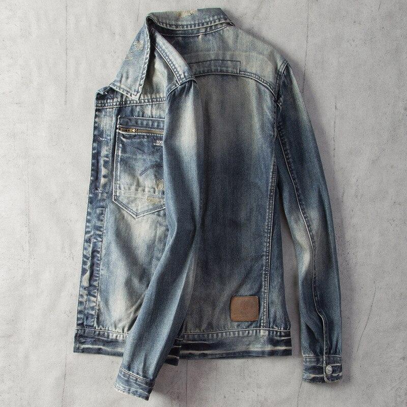 2020 Mens Jeans Jackets European Style Streetwear Biker Man Coat Outfit Clothing XXXL Mens Bomber Jackets Overcoats Summer A524