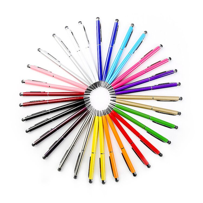 New Multi-color Metal Ballpoint Pen Touch Screen Capacitor Pen Advertising Gift Pen Student School Writing Stationery
