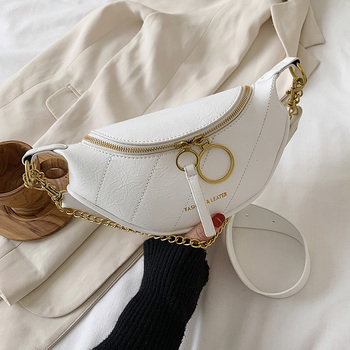 Chain Design Summer Solid Color Quality PU Leather Crossbody Bags For Women 2020 Simple Fashion Shoulder Bag Lady Handbags