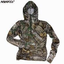 Весенне-летняя Солнцезащитная куртка для охоты, рыбалки, с длинными рукавами, с капюшоном, футболка, Bionic Camo, дышащая, классная, военная, тактическая одежда