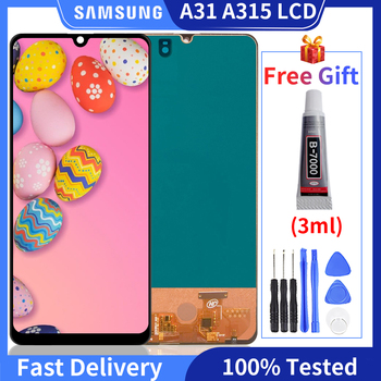 100% tested TFT LCD For Samsung Galaxy A31 A315 LCD  A315F  Display Touch Screen Digitizer Assembly For A31 LCD Screen With Gift for samsung galaxy s3 tft lcd display lcd touch screen digitizer assembly with frame for samsung galaxy s3 i9300 i9300i i9308i