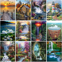DIY Scenery 5D Diamond Painting Cross Stitch Diamond Embroidery Rhinestones Full Round Drill Mosaic Home Decor dispaint full square round drill 5d diy diamond painting mandala scenery 3d embroidery cross stitch 5d home decor a10820