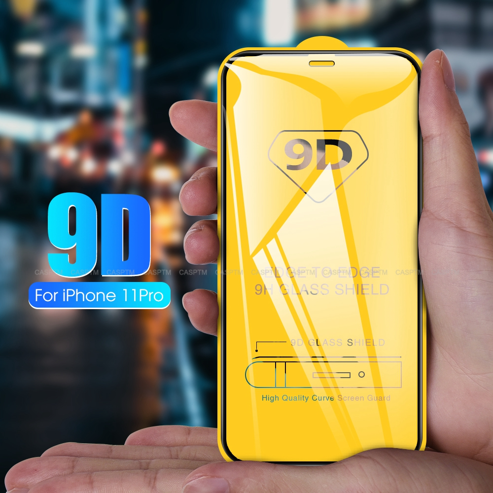 9D Curved Edge Tempered Glass For IPhone 11 Pro MAX  X XS XR XS MAX Full Cover Screen Protective Glass For IPhone 6 6S 8 7 Plus