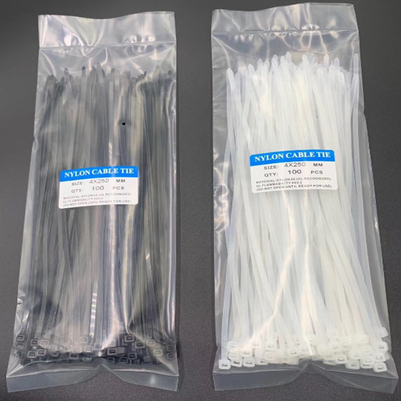 Nylon Cable Self-locking Plastic Wire Zip Ties Set 3*200 4*150 4*250 MRO & Industrial Supply Fasteners & Hardware Cable 100 Pcs