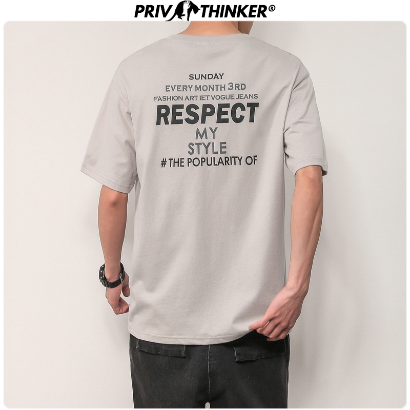 Privathinker 2020 Men Collage Letter Printed Tshirts Men Fashion O-Neck T-Shirts Male Short Sleeve Tees Tshirt Clothing Summer
