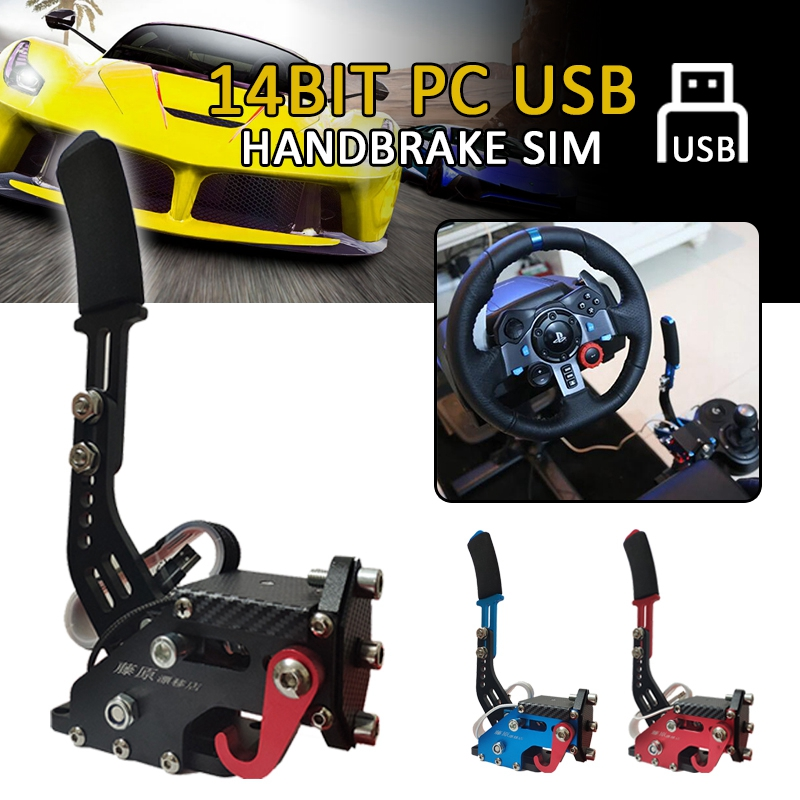 Racing 14Bit Hall Sensor USB Handbrake SIM For PC Racing Game G25/27/29 T500 FANATECOSW DIRT RALLY Accessories Clamp Drift Racer