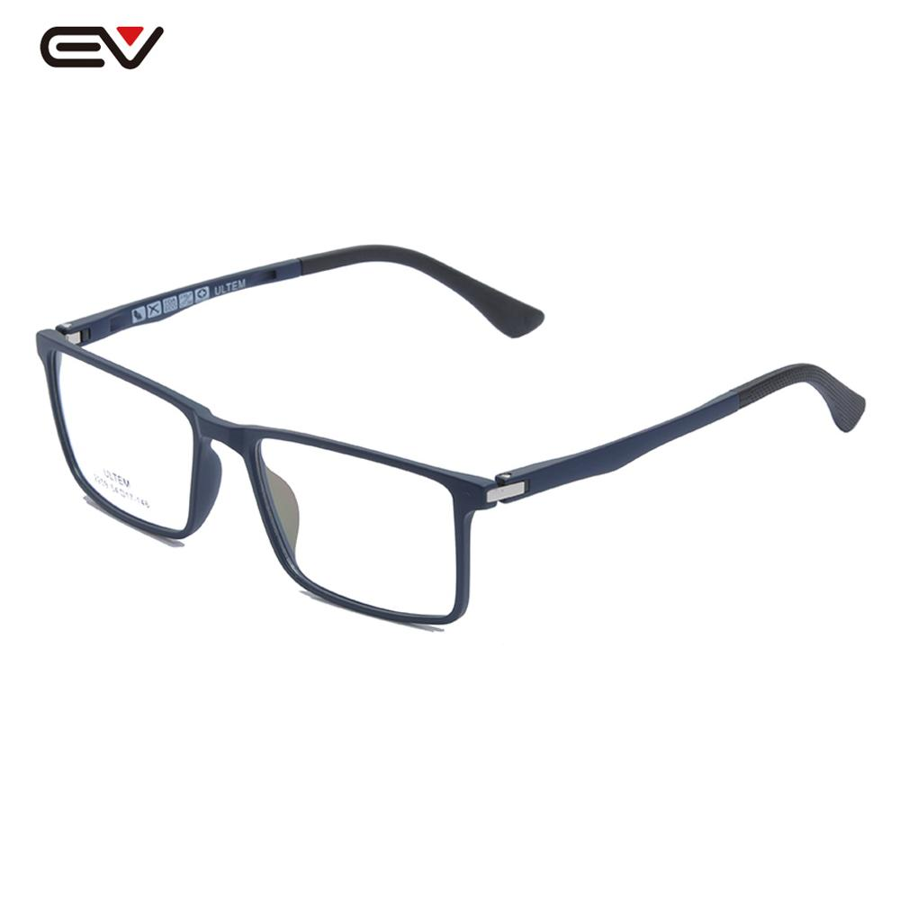 ULTEM Ultra-light Glasses Men's Eyeglasses W/Spring Hinge Rectangle Eye Glasses For Man 54mm Sport Optical Frame W/Case