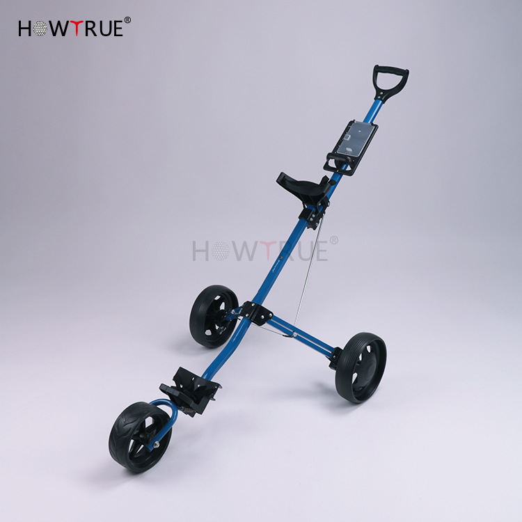 Golf Trolley Golf Pull Cart Cart 3wheels Push Pull Golf Cart Aluminium Alloy Foldable Trolley With Brake Voiturettes De Golf