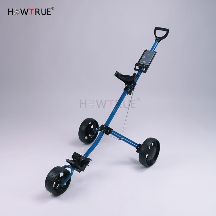 Golf Trolley Golf Pull Cart Cart 3wheels Push Pull Golf Cart Aluminium Alloy Foldable Trolley With Brake Voiturettes De Golf