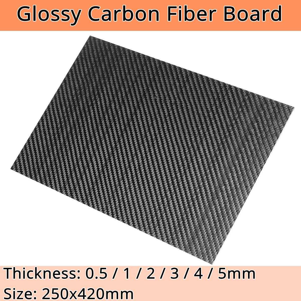 RJXHOBBY 500X400X3.0mm 3K Carbon Fiber Plate Panel Sheet 3.0mm Thickness Cross Grain, Matte Surface