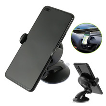 цена на 360 Rotation Car Bracket Black Windscreen Suction Mount Mobile Phone Holder Bracket Stand Automobiles Interior Accessories