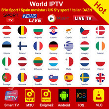 Wereld M3U Iptv Abonnement Voor Spanje Italië Duitsland Nederland Turkije Uk Usa Iptv Sport Channel Smart Android Tv Box M3U iptv(China)