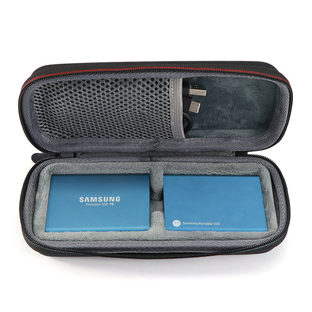 2 in 1 Carrying Case For Samsung T5 T3 T1 Portable 250GB 500GB 1TB 2TB SSD USB 3.1 Type C Hard Drive External Solid State Drives