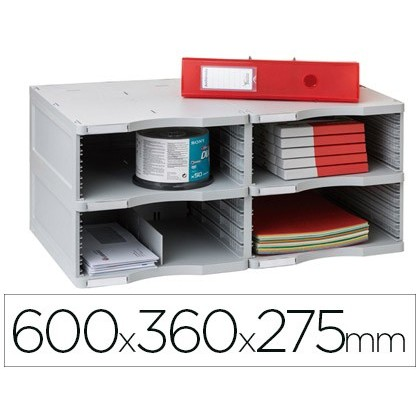 FILE MODULAR ARCHIVE 2000 ARCHIVE DOC DUO JUMBO 4 GREY Boxes 600X360X275 MM
