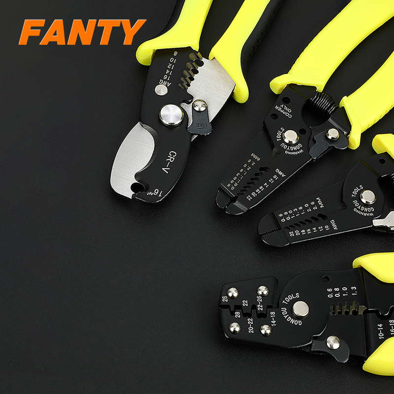 Fully automatic wire stripper cutter pliers multitool crimper cable electrician crimping tool