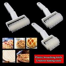 Cocina pastel de Pizza máquina de corte de galletas utensilios para hornear de plástico bandeja de hornear en relieve rodillo de masa de corte de 3 tamaños