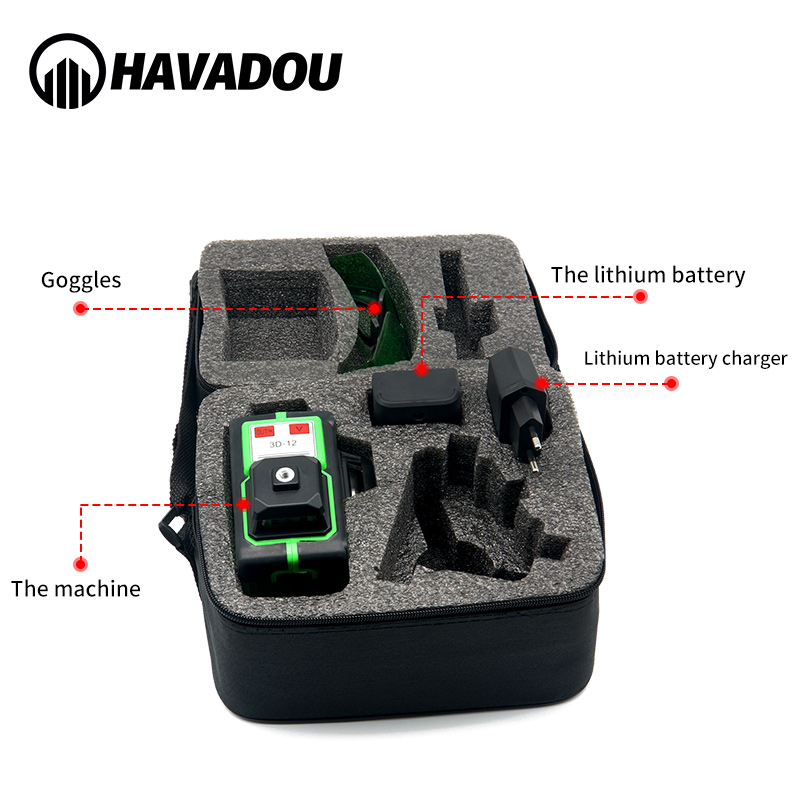 Level Indoors Adjustment Self Green Outdoor Laser 360 3D Laser And Green12 HAVADOU Auto Super Lines Leveling Horizontal Powerful