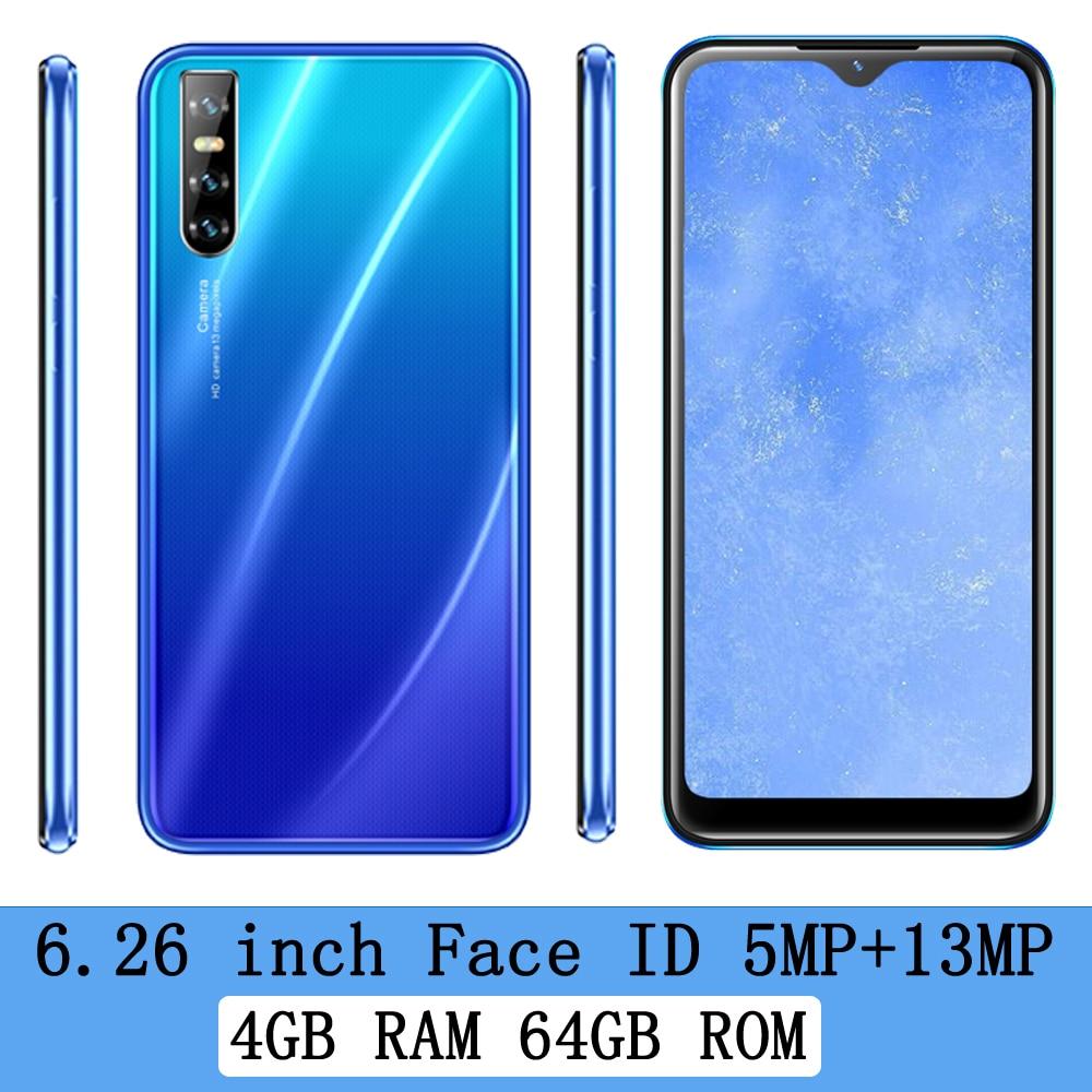 13MP 8A смартфон разблокированный Android 6,26 дюймов Большой экран четырехъядерный 4G RAM 64G ROM оригинальные мобильные телефоны Wifi Celulars