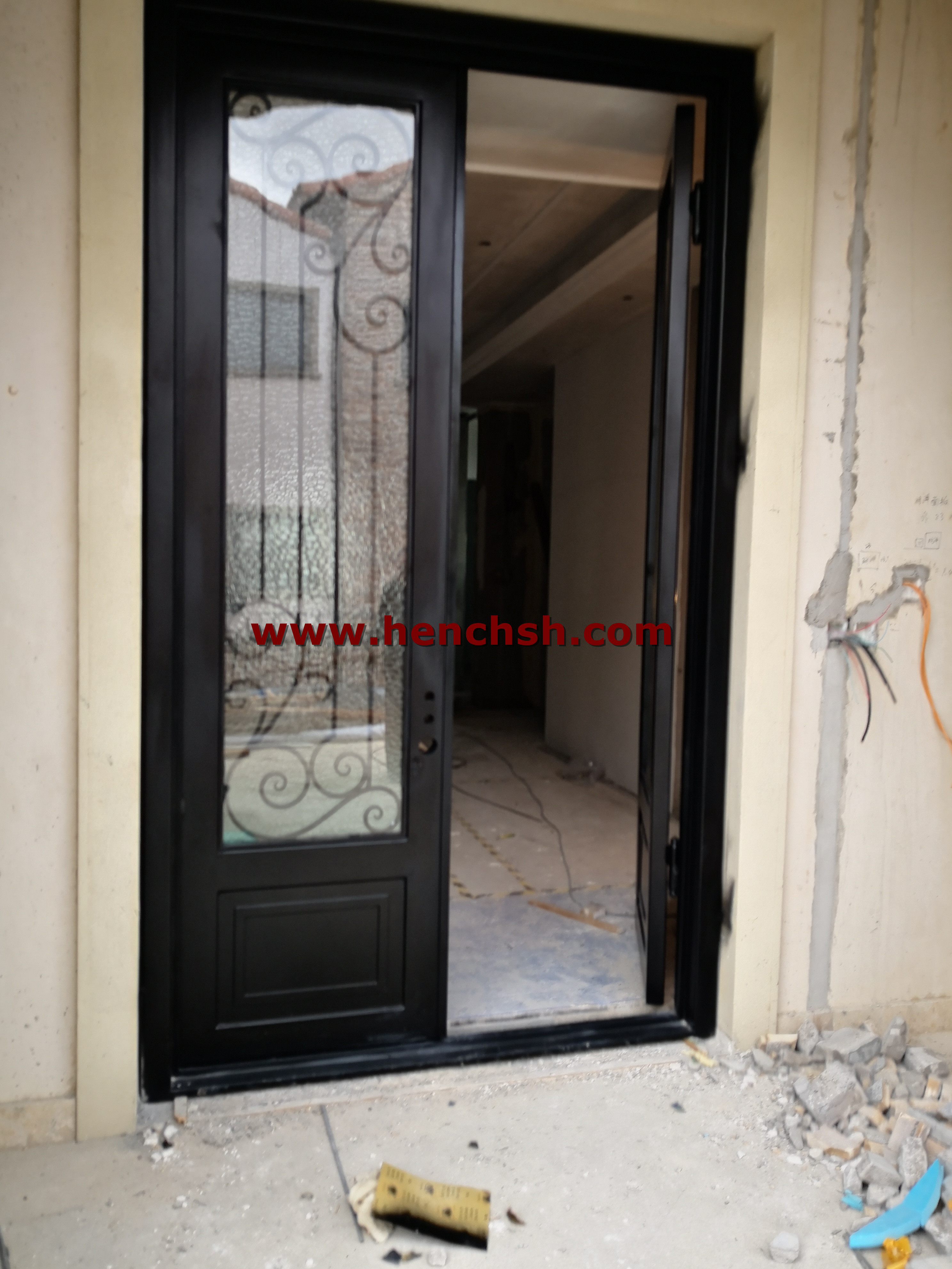 Henceforward 100 Baja Pintu Besi Aluminum Glass Door Glass