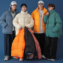 Winter Padded Jacket Coat Men Thicken Parkas Male Female Coats Boy Girl Outwear Windbreaker Loose Oversized Brand Clothes Lovers