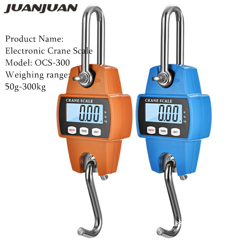 Crane Scale Weight 300kg 150kg/50g 200kg/100g 500kg/100g Heavy Duty Hanging Hook Scales Portable Digital Stainless Steel 40%off