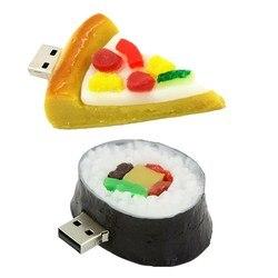 Klasyczne jedzenie Pizza Sushi Usb dysk Flash 512GB wodoodporna Pen Drive 256GB dysk Flash Pendrive 128GB pamięci pamięć Usb prezent