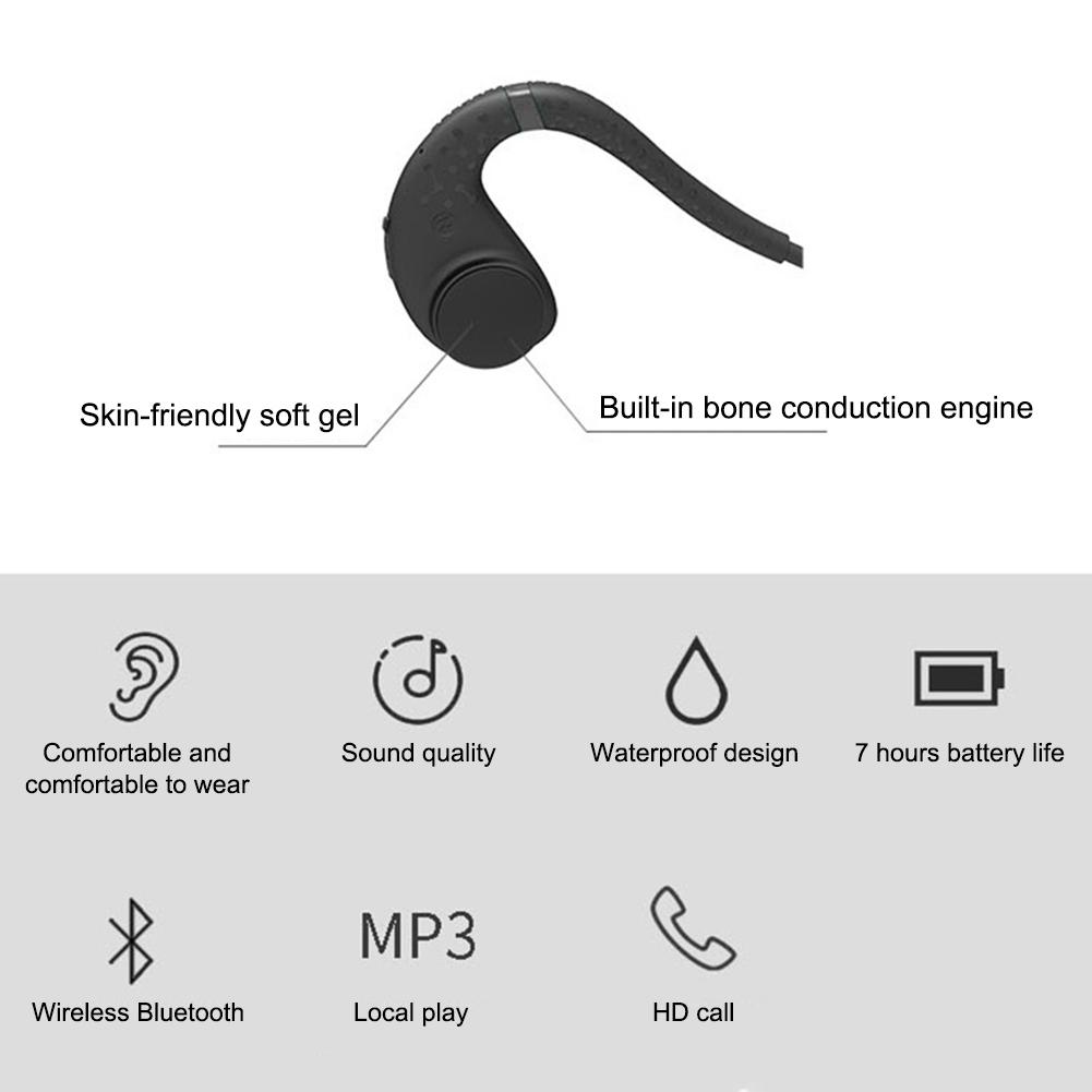 Bone Conduction Bluetooth 5.0 Headset Stereo Level 8 Waterproof Sports Swimming Running Wireless Headphone Mic Handsfree Headset on AliExpress 7