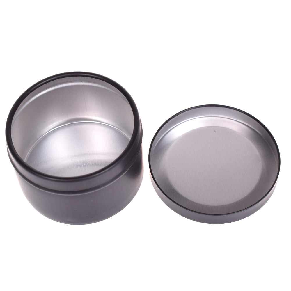 Mini Tea Can Travel Portable Flower Tea Packaging Sealed Cans Metal Trumpet Creative Black Tea Small Tea Cans Tin Box 50ml