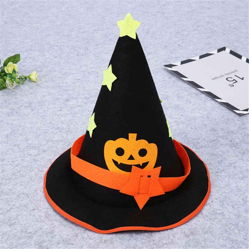 Czapki imprezowe kobiety kapelusz wiedźmy czapka kostium dla dorosłych pająk Halloween fantazyjne Halloween pomarańczowy