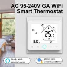 95-240V WiFi inteligentny termostat regulator temperatury do wody elektryczne ogrzewanie podłogowe kocioł gazowy współpracuje z Alexa Google Home tanie tanio NONE CN (pochodzenie)