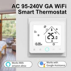 95-240V WiFi Smart Thermostat Temperature Controller for Water Electric Floor Heating Gas Boiler Works With Alexa Google Home