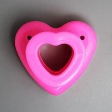 (12 шт/лот) Бесплатная доставка Пластиковые штампы в форме сердца