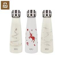Youpin KKF vakumlu şişe taşınabilir termos bardak seyahat kupa 304 paslanmaz çelik çinko alaşım el düzenlenen yüzük 3 desenler