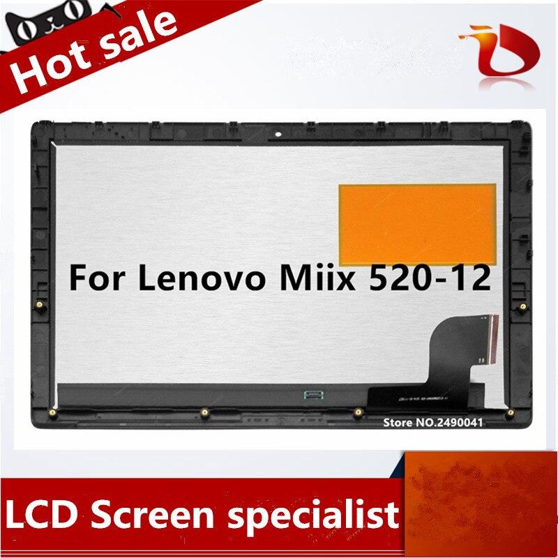 Gratis Verzending Originele Voor Lenovo Miix 520-12Ikb miix520-12 12.2 inch LCD LED Screen Display Digitizer Vergadering Touch Panel Vervangen